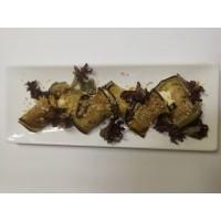 Рулетики из баклажан с сырно-ореховой заправкой