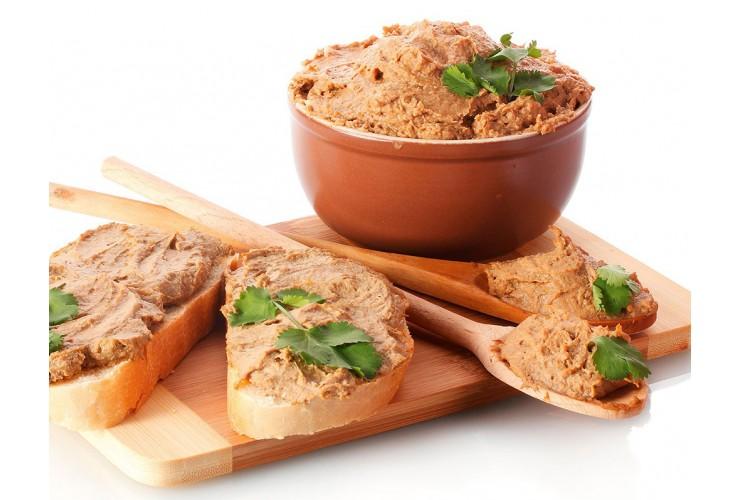 Риет из кролика с гренками из бородинского хлеба