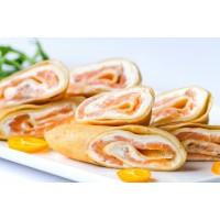 Блинчики с лососем и сливочным сыром