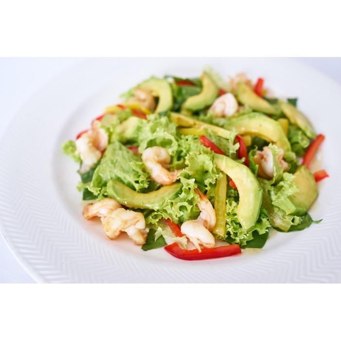 Салат авокадо креветок фото